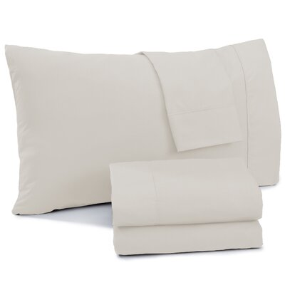 Shanna Rich 1200 Thread Count Sheet Set Size: King, Color: Ivory