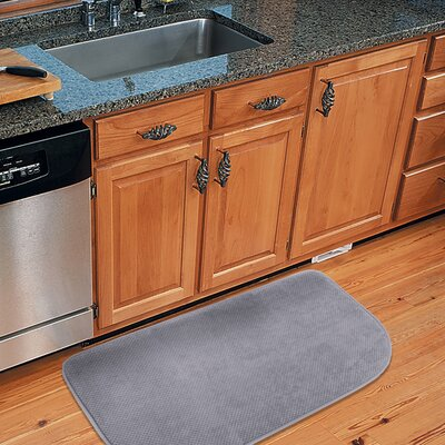 Rowan Textured Memory Foam Kitchen Mat Color: Gray