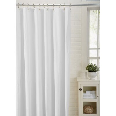 Spa Bath Works Mildew Resistant 100% PEVA Shower Curtain Liner Color: White