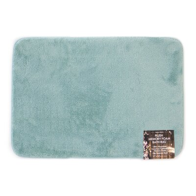 Eleanora Plush Memory Foam Anti-Fatigue Bath Rug Color: Ocean Wave, Size: 20 W x 32 L