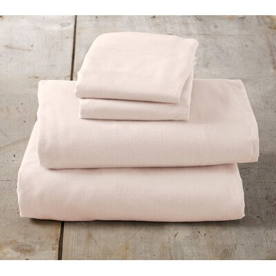 Peter Super Soft Solid Flannel Sheet Set Size: Full, Color: Blush Pink