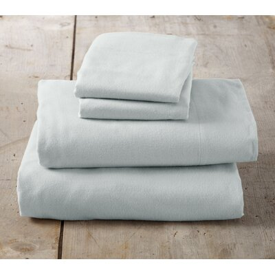 Peter Super Soft Solid Flannel Sheet Set Color: Pale Green, Size: Queen