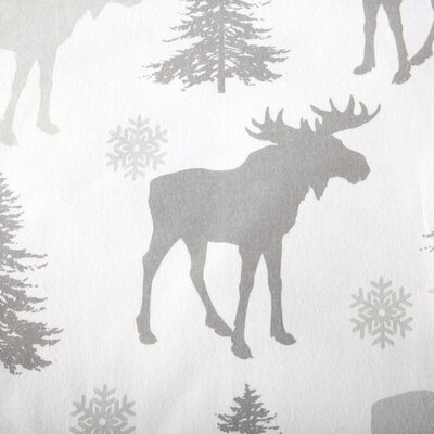 Clymer Moose Super Soft Printed Flannel Cotton Sheet Set Size: Queen