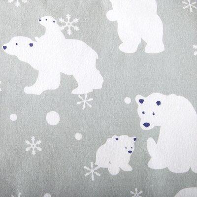 Janiya Polar Bears Super Soft Printed Flannel Cotton Sheet Set Size: Full