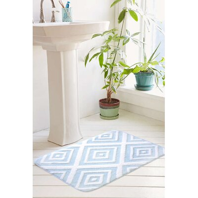 Loden Plush Memory Foam Anti-Fatigue Jacquard Bath Rug Size: 20 W x 32 L, Color: Icy Morn