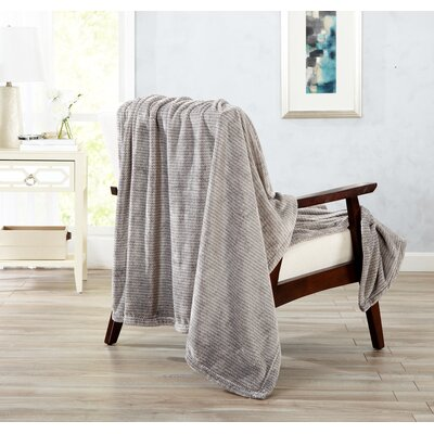 Astor Ultra Velvet Plush Heathered Dot Jacquard Oversize Throw Color: Taupe