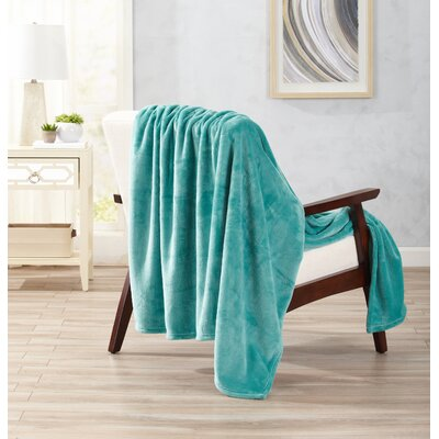 Clara Ultra Velvet Plush Oversize Throw Color: Sea Blue