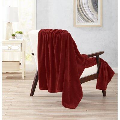 Clara Ultra Velvet Plush Oversize Throw Color: Marsala Red