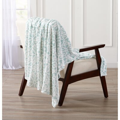 Reesa Ultra Velvet Plush Oversize Throw Color: Indian Teal