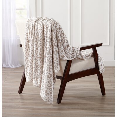 Reesa Ultra Velvet Plush Oversize Throw Color: Stone Gray