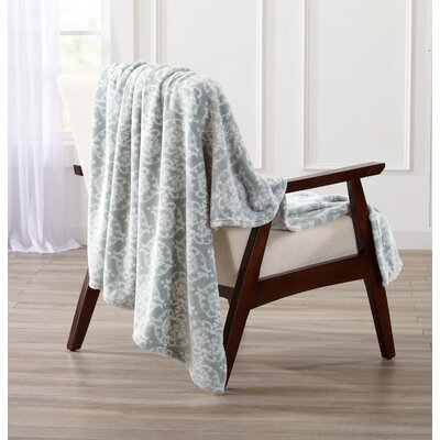 Kingston Ultra Velvet Plush Oversize Throw Blanket Color: Blue Surf