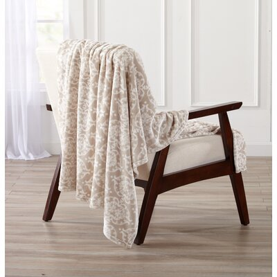 Kingston Ultra Velvet Plush Oversize Throw Blanket Color: Taupe