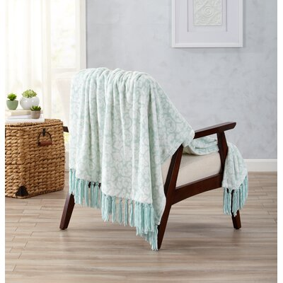 Katrina Ultra Velvet Plush Throw with Decorative Fringe Color: Ash Gray