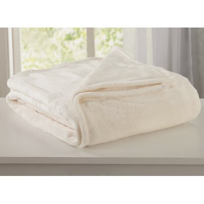 Melinda Plush Super Soft Ultra Velvet Blanket Size: Twin, Color: Whisper White