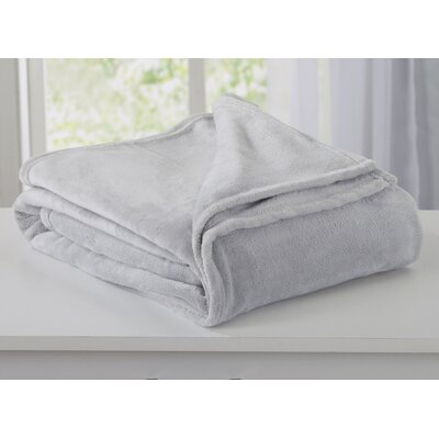 Melinda Plush Super Soft Ultra Velvet Blanket Size: Full/Queen, Color: Pewter