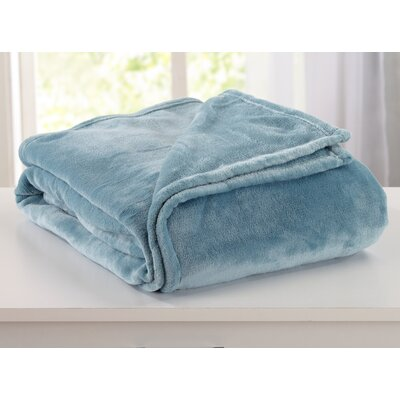 Melinda Plush Super Soft Ultra Velvet Blanket Size: King, Color: Smoke Blue