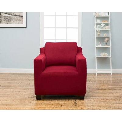 Dawson Box Cushion Armchair Slipcover Upholstery: Garnet