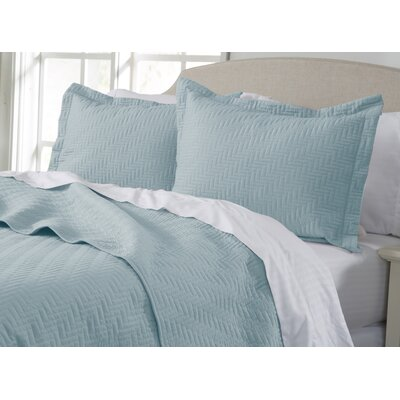 Rafaela Quilt Set Color: Cloud Blue, Size: Full / Queen