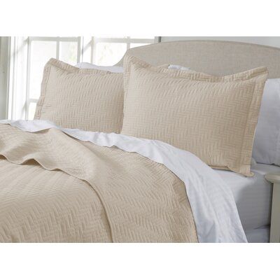 Rafaela Quilt Set Size: Twin, Color: Sandshell