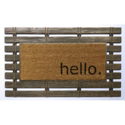 Montpelier Coir Brush Hello Doormat