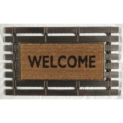 Montpelier Coir Brush Welcome Doormat