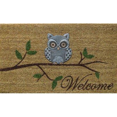 Hadley Coir Brushed Owl Doormat