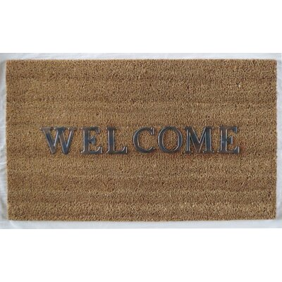 Hadley Coir Brushed Welcome Doormat