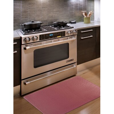 Kingston Solid Anti-Fatigue Kitchen Mat Color: Marsala Red