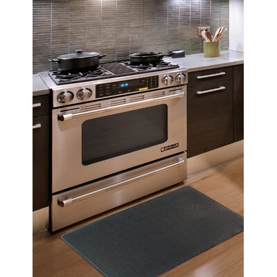 Kingston Solid Anti-Fatigue Kitchen Mat Color: Black