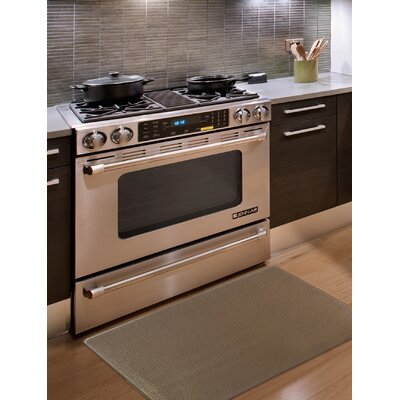 Kingston Solid Anti-Fatigue Kitchen Mat Color: Brown