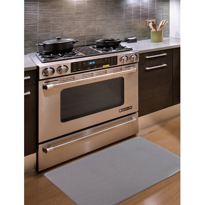 Kingston Solid Anti-Fatigue Kitchen Mat Color: Cloudburst Gray