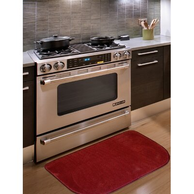 Rowan Textured Memory Foam Kitchen Mat Color: Red