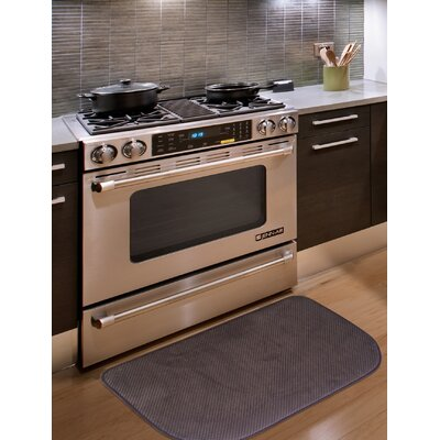 Rowan Textured Memory Foam Kitchen Mat Color: Chocolate