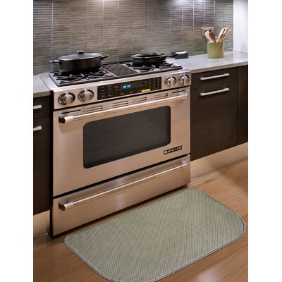 Rowan Textured Memory Foam Kitchen Mat Color: Taupe