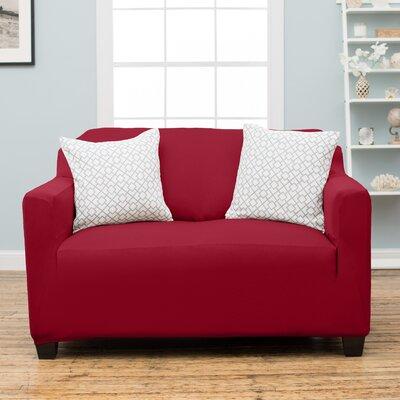 Dawson Loveseat Slipcover Upholstery: Garnet