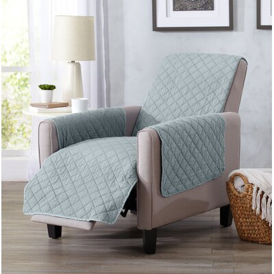 Great Bay Home Box Cushion Recliner Slipcover Upholstery: Mirage Gray