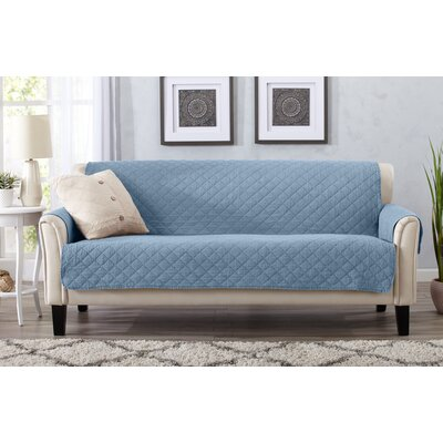 Great Bay Home Box Cushion Sofa Slipcover Upholstery: Delphium Blue