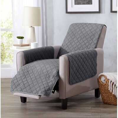 Great Bay Home Box Cushion Recliner Slipcover Upholstery: Storm Gray
