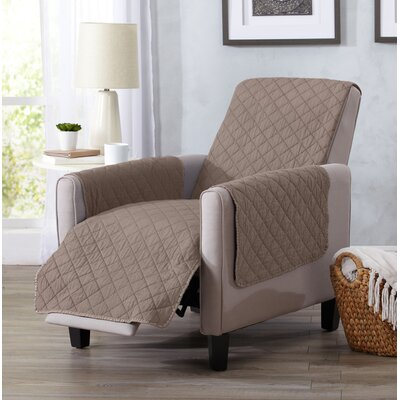 Great Bay Home Box Cushion Recliner Slipcover Upholstery: Chocolate