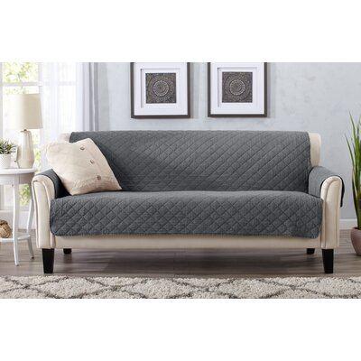 Great Bay Home Box Cushion Sofa Slipcover Upholstery: Storm Gray