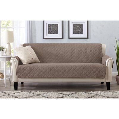 Great Bay Home Box Cushion Sofa Slipcover Upholstery: Chocolate