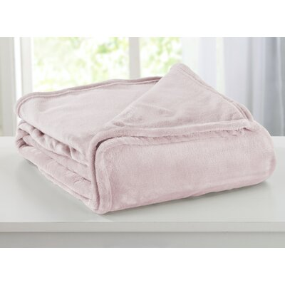 Portland Plush Super Soft Ultra Velvet Blanket Size: Twin, Color: Blush Pink