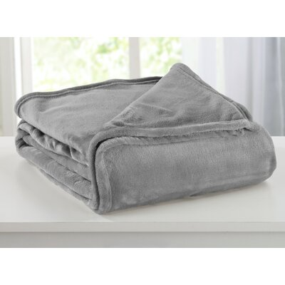 Portland Plush Super Soft Ultra Velvet Blanket Size: King, Color: Ash Gray