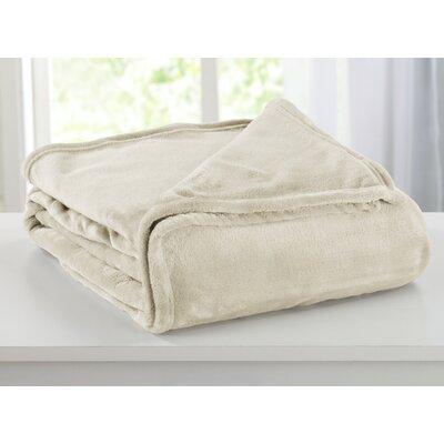 Portland Plush Super Soft Ultra Velvet Blanket Size: King, Color: Eggnog