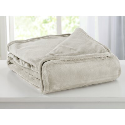 Portland Plush Super Soft Ultra Velvet Blanket Size: King, Color: Gray Morn