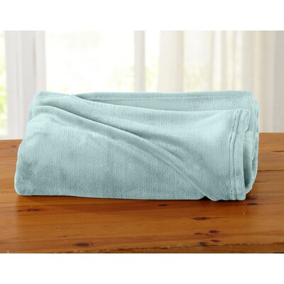 Jemma Ultra Velvet Plush Oversize Throw Color: Harbor Blue