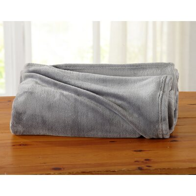 Jemma Ultra Velvet Plush Oversize Throw Color: Silver Gray