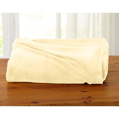 Jemma Ultra Velvet Plush Oversize Throw Color: Beige