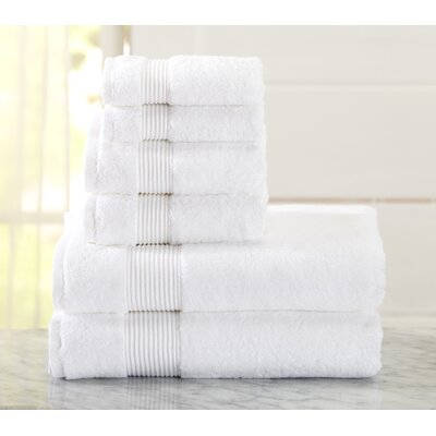 Paper Street 6 Piece Towel Set Color: Optic White