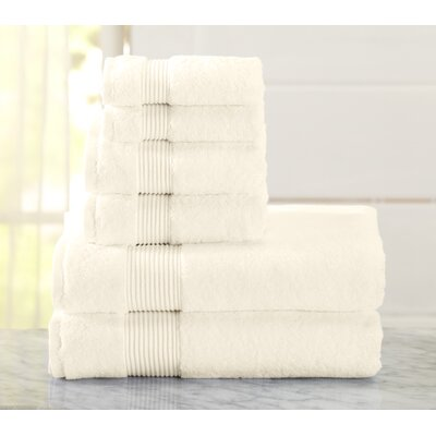 Paper Street 6 Piece Towel Set Color: Ivory